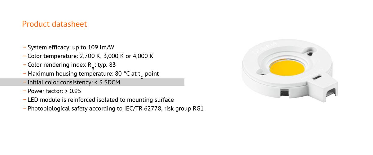 معیار SDCM در LED