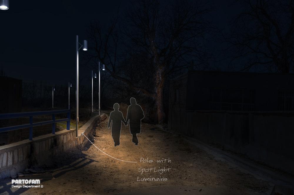 نورپردازی شماتیک پیاده رو