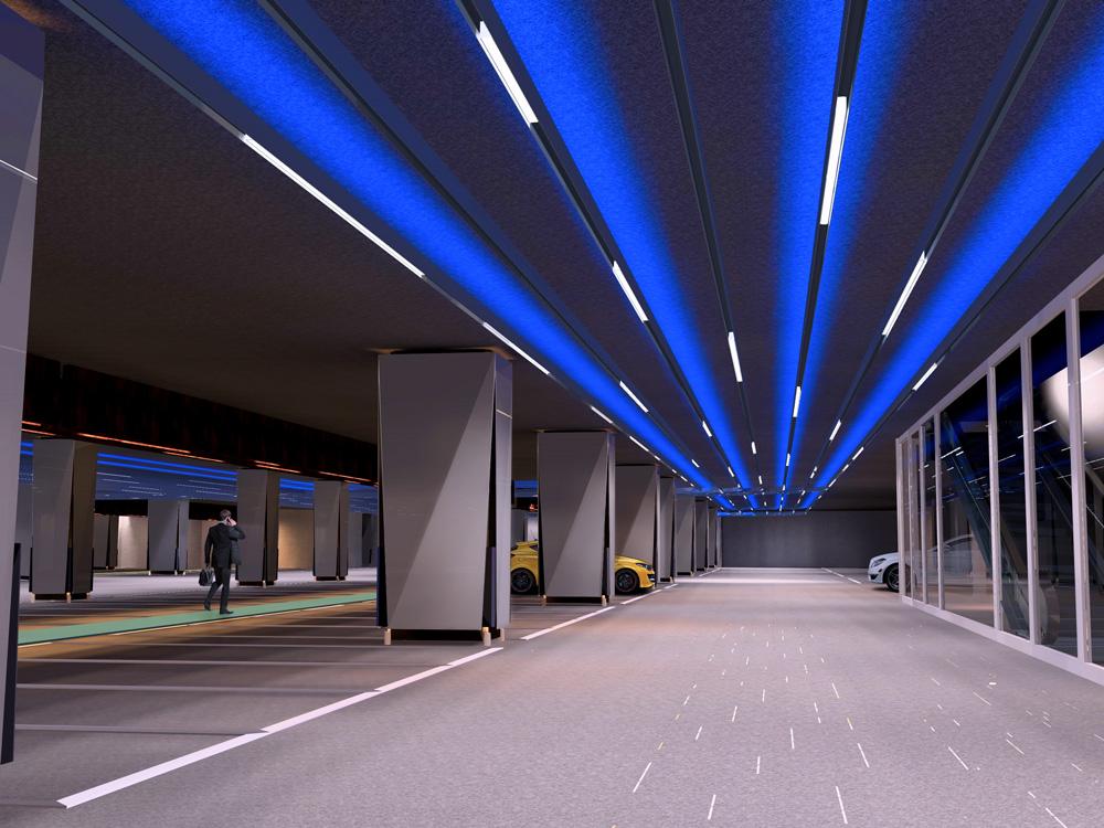 نورپردازی پارکینگ